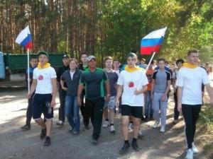 первая группа школьников вренувшихся с пробежки